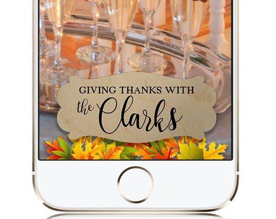 Thanksgiving SnapChat filter - Autumn Wedding Snapchat filter
