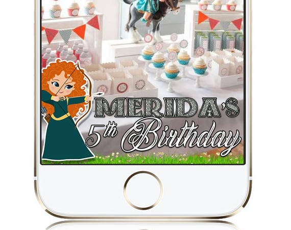Brave theme Snap Chat Filter - Kids Birthday - Customize!