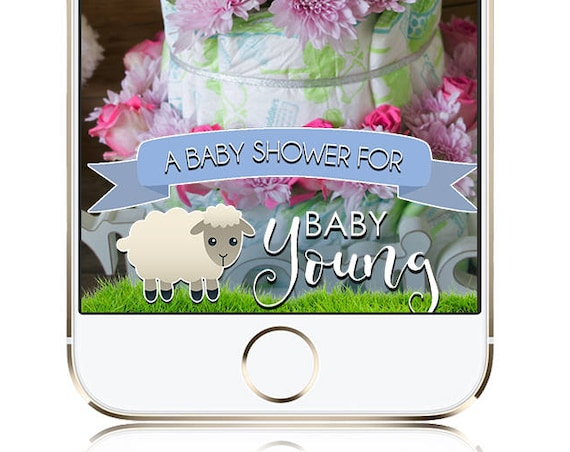Sheep / Lamb Themed SnapChat Filter - Personalize for any event!