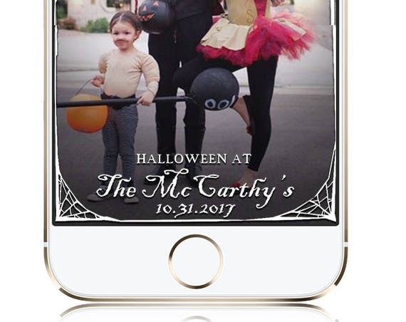 Halloween Party Snap Chat Filter - Spider Web Border - Custom Geofilter