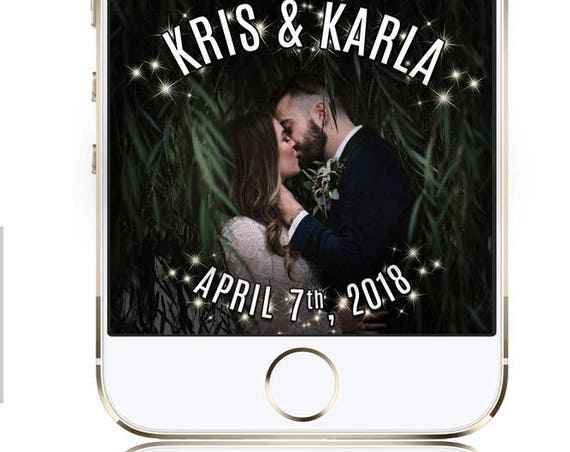 Dramatic Wedding Snap Chat Filter - top and bottom design!