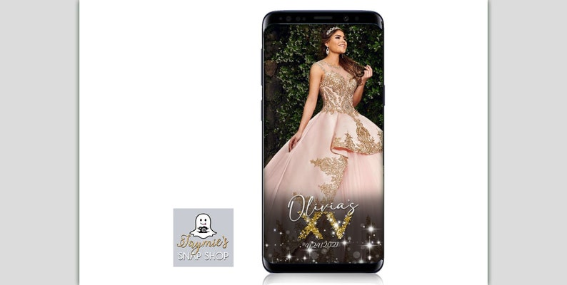 Glitter Pile SnapChat Filter Personalize Setup! Quinceanera Snapchat