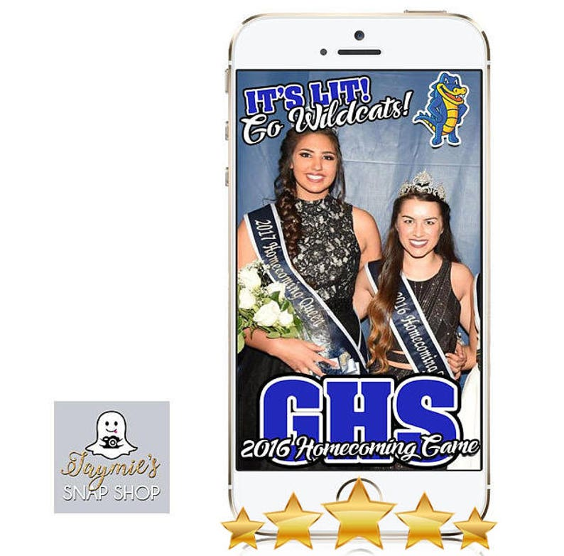 Customize! Homecoming  Sports Team Event Snap Chat Filter