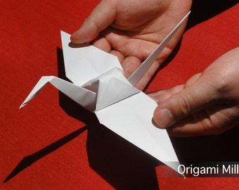 8 inch white cranes (1000 pieces)