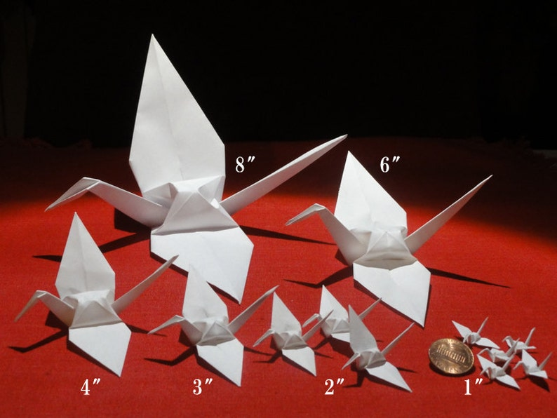 4 inch white cranes 1000 pieces