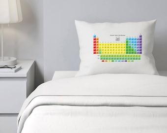 Science bedding etsy custom pillowcase periodic table science bedding personalized pillowcase geek gift urtaz Gallery