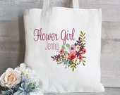 Flower Girl Tote Bag, Wedding Favor Bag, Flower Girl Bag, Wedding Welcome Bag, Wedding Tote Bag
