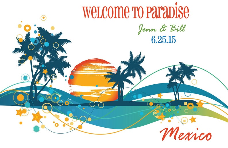 Bridesmaid Gift Wedding Tote Bag Favors for Wedding Tropical Wedding Bag Beach Tote Bag for Guest Destination Wedding Favor