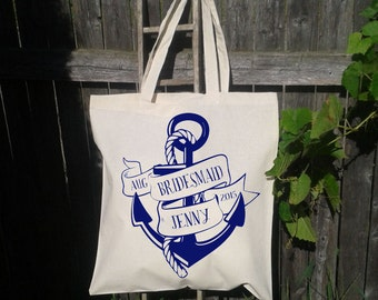 Bridesmaid Gift Tote Bag, Bachelorette Tote, Maid of Honor Gift, Flower Girl Gift, Personalized Wedding Tote for wedding, Bachelorette