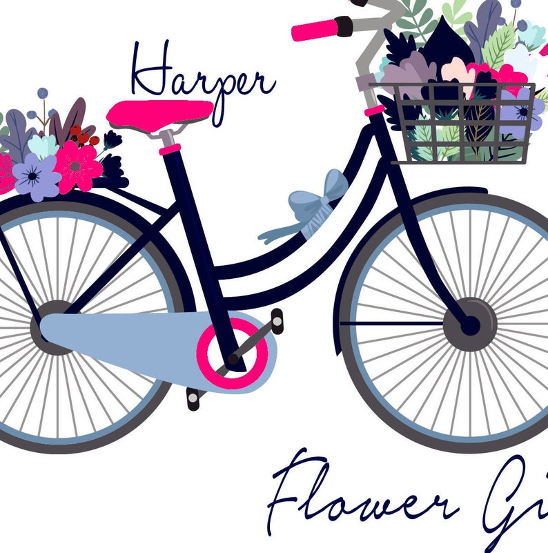 Wedding Favor Bag Floral Bike Gift for Ring Bearer Flower Girl  Bag Wedding Welcome Bag Flower Girl Tote Bag Wedding Tote Bag