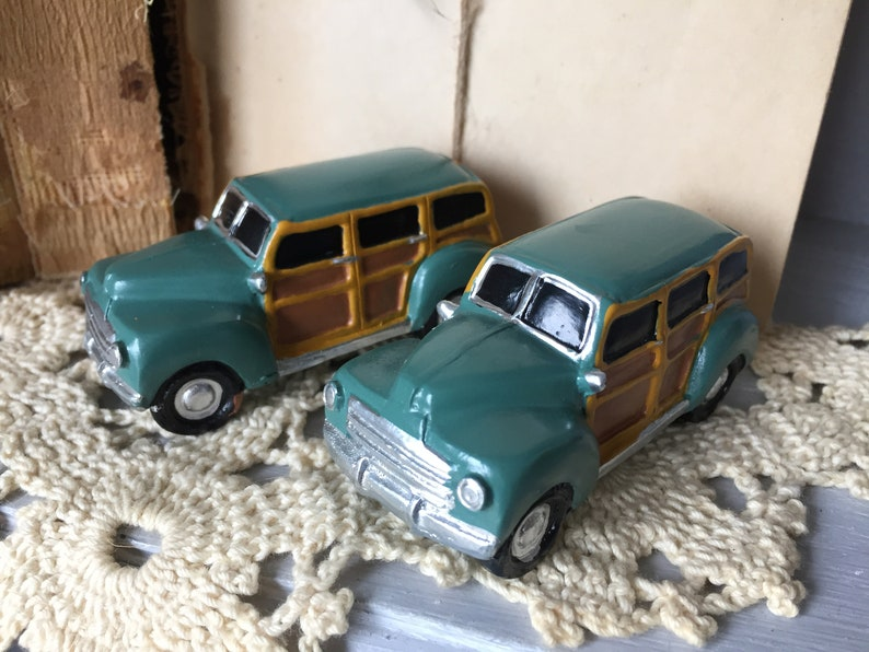 Two Toy Woody Wagons