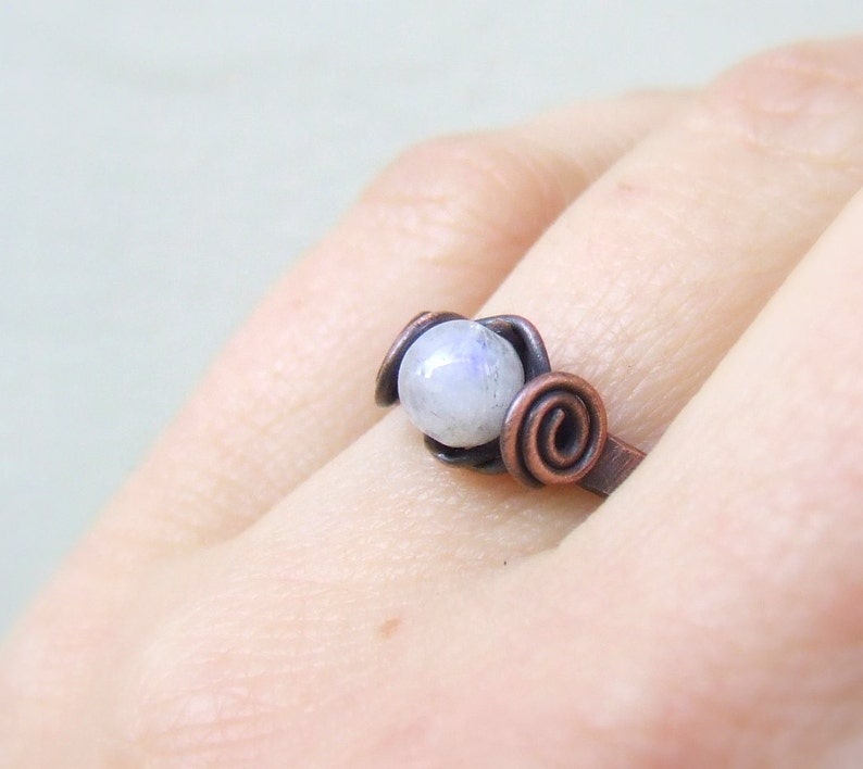Moonstone and Hematite Bracelet  Feminine Crystal Jewelry  Gift for her  Bridesmaid Gift  Boho 100/% Silk Rainbow Moonstone Flourite