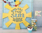 You Are My Sunshine word Art Wood Cutout Typography Wood Sign