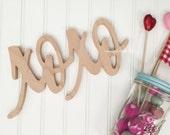 xoxo word Art Wood Cutout Typography Wood Sign