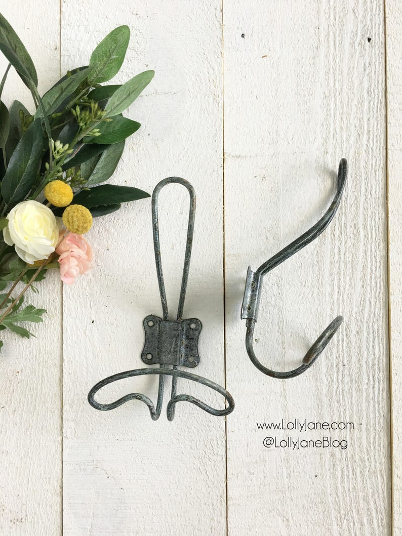 Wire Wall Hooks | Farmhouse Vintage Zinc Wire Wall Coat Hook Rustic Wire Wall Etsy