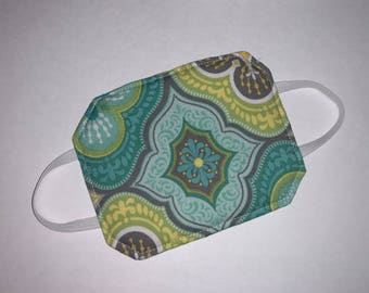 Door Muffler for Nursery | Door Silencer for Baby | Shower gift | Green Blue Yellow Medallions