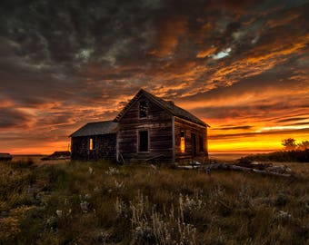 Prairie Sunrise 12x18 Fine Art Photo