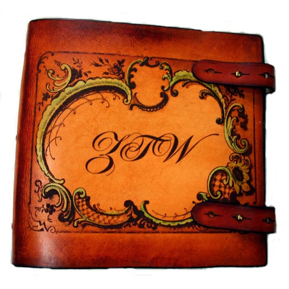 Sonshine Leather Personalized Leather Scrapbook Or Photo Album Etsy