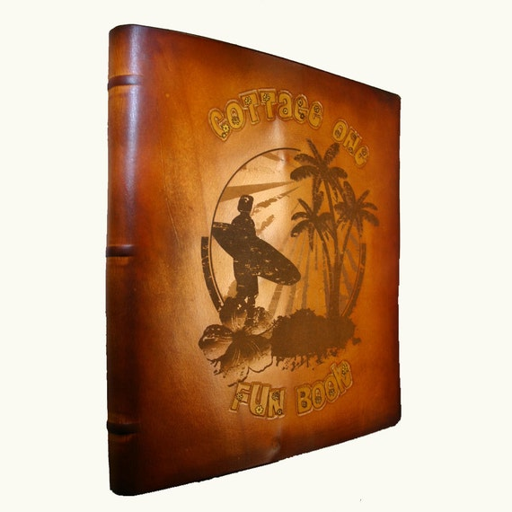 Personalized Leather Scrapbook or Photo Album