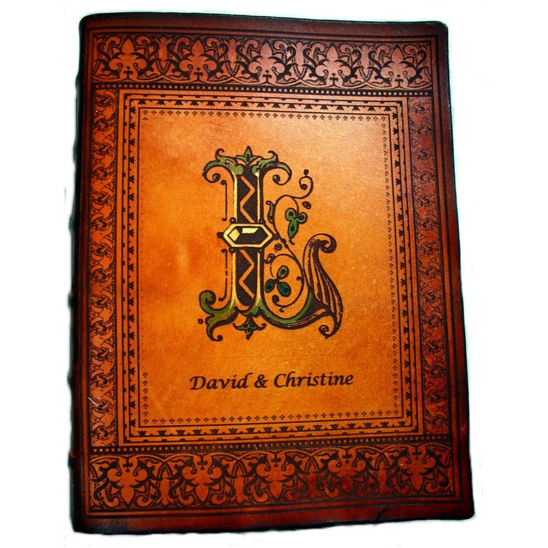 Personalized Leather Catholic, NIV, KJV or NKJV Family Bible Customized  With family Initial