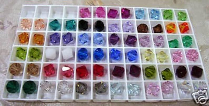 ea04c0ef9 8mm 5301 Bicone Swarovski Crystal 20p Choose Colours Loose | Etsy