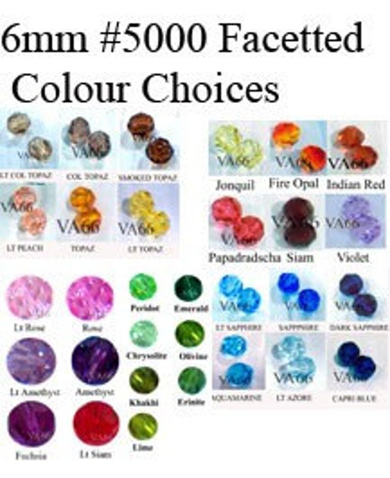 a16ef62b0 6mm 5000 Swarovski Crystal Facetted 24p Choose Colours Loose | Etsy