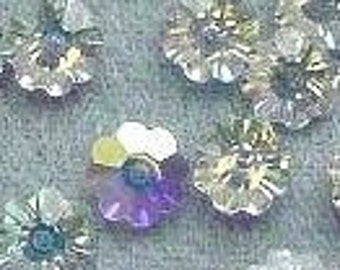 10p - 100p Swarovski Margaritas Daisy Flower Crystal 3700 6mm Crystal AB from Austria Loose Crystal Beads for Jewelry Making Findings