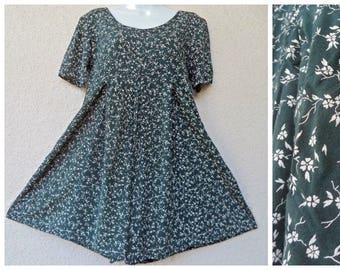 d5c17dae6a53 1990s ROMPER. Short Jumpsuit. Grunge Revival Romper. Mini Dress. Floral  Print Romper. Ditzy Print. Slouchy Romper. Rayon Romper. Playsuit. M