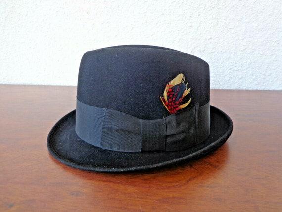 Vintage 1940s MEN'S HAT - Trilby Style - in Wool F