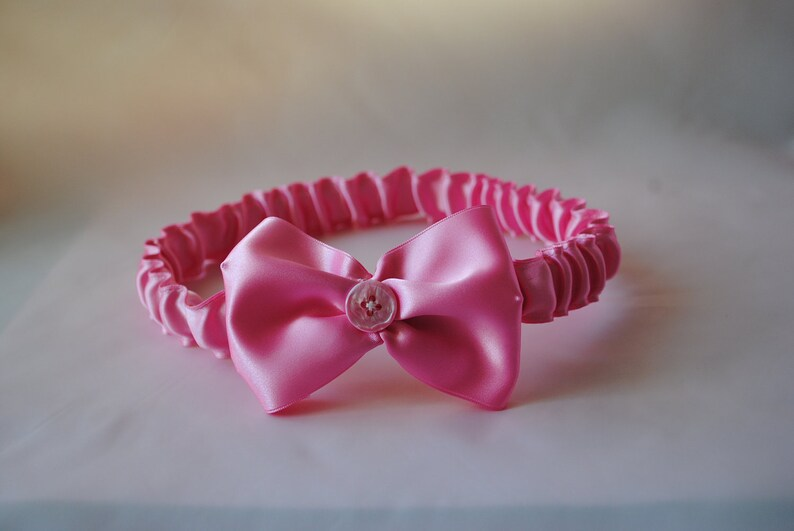 Mother and Baby Headband Pink Bow Satin Headband adult Handmade Mother Daughter Ready to Ship in sizes newborn and teen