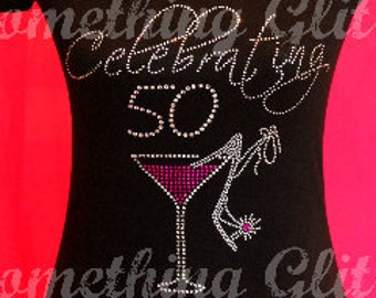 50th Birthday Shirt Fabulous At 50 Bling Tank Celebrating