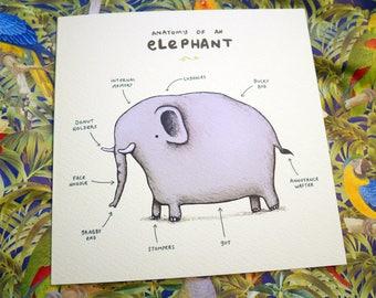 Anatomy Of An Elephant Card