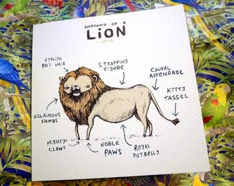 Anatomy Of A Lion Card