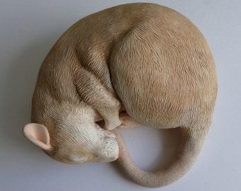 CUSTOM Fancy Rat Sculpture Pet Rat Ornament Medium Size