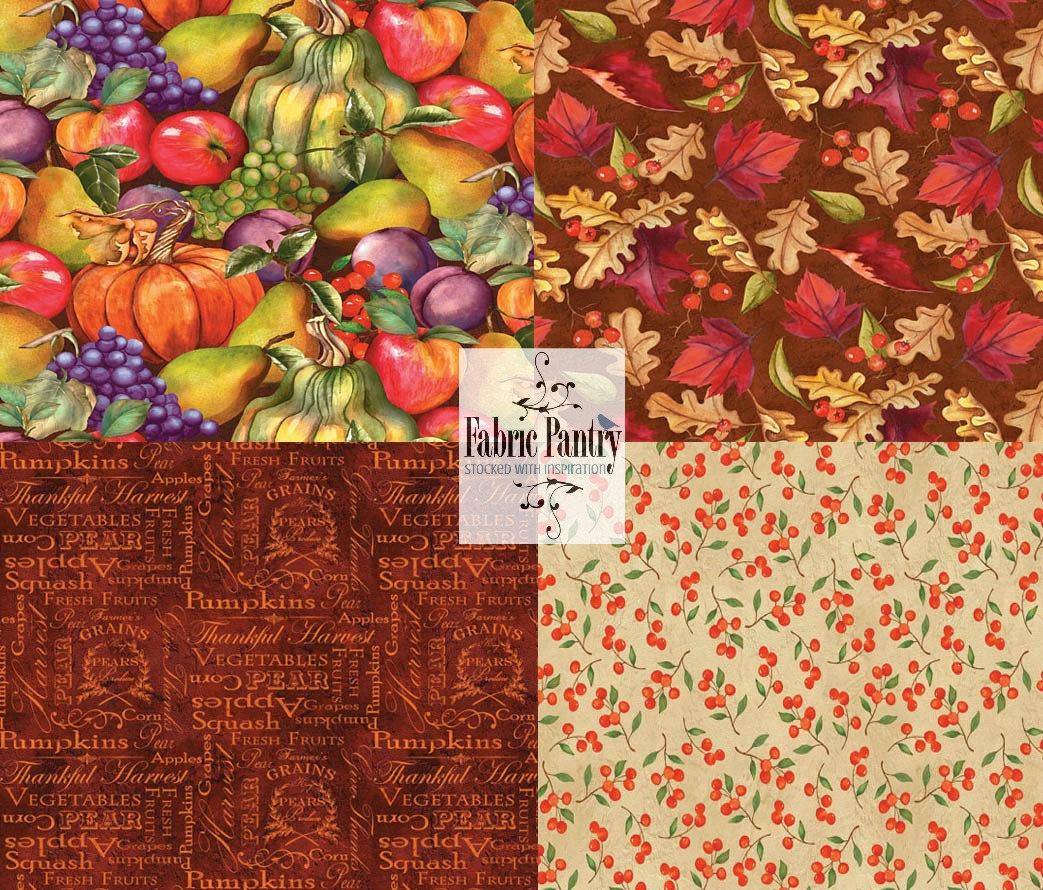 Red Apples Fresh Harvest Fruit Food 100/% Cotton Fabric Fat Quarter