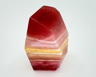 Rose Gem Crystal Organic Hand Soap, crystal home decor, crystal shaped soap, modern vegan bar soap, luxe bath soap, wedding favor soap
