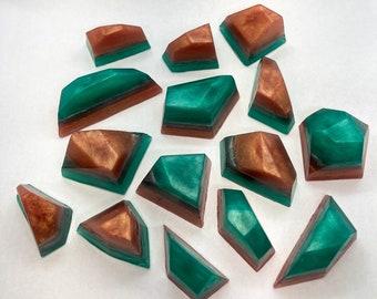 Collection of 15 Mini Tourmaline Gem Crystal Hand Soap, crystal home decor, crystal shaped soap,modern vegan bar soap,favor gift