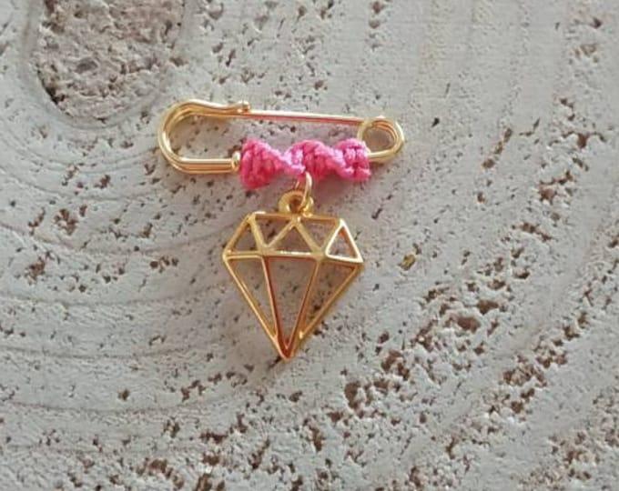 Diamond charm brooch for girls