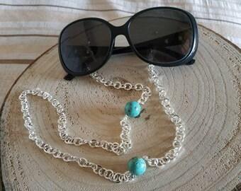 Eyeglass silver chain straps