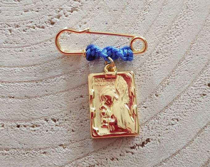 Guardian angel brooch for a baby boy