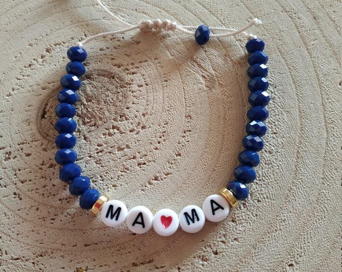 Mama letter bead custom bracelet
