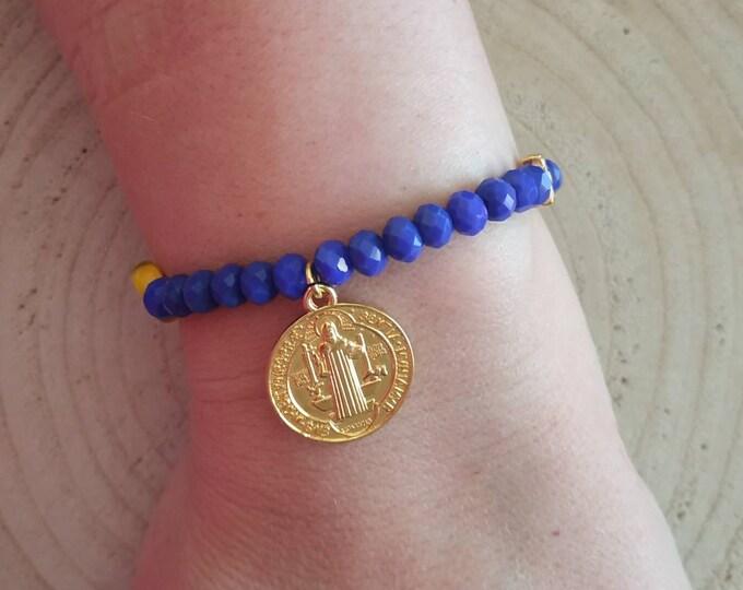 St. Benedict medal beaded bracelet