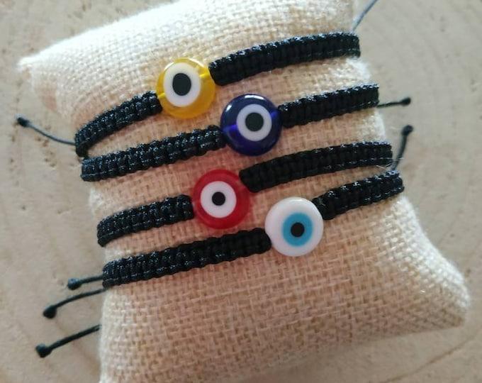 Mini evil eye simple cord bracelet