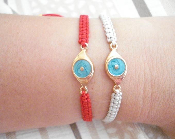 Turquoise evil eye braided bracelet