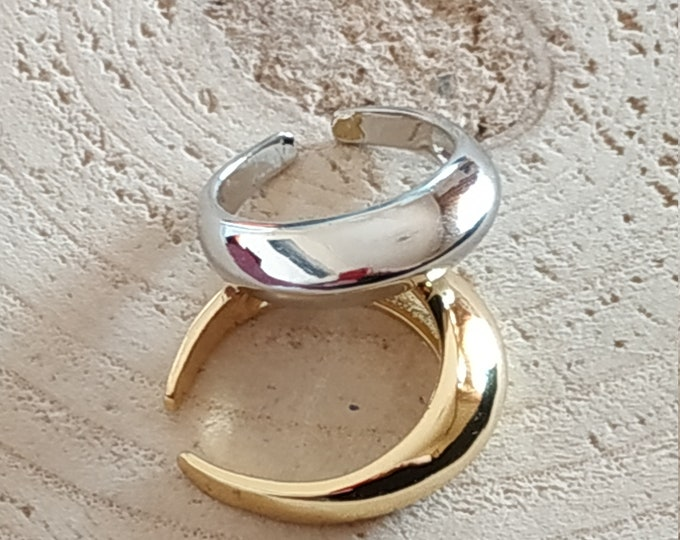 Chunky stainless steel adjustable ring