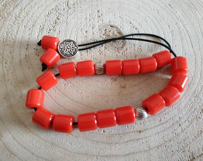 Greek red komboloi gift for pappou