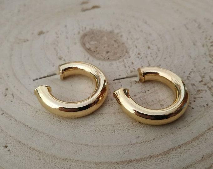 Small thick chunky hoops