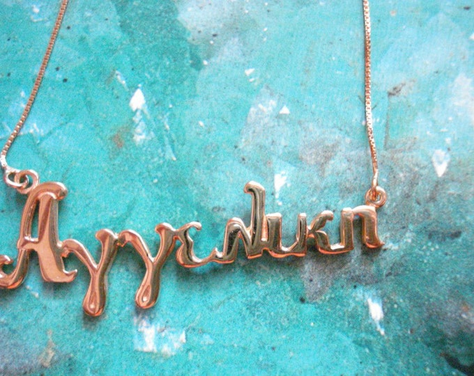Greek lettering necklace, name pendant, personalized necklace, any name necklace, custom name pendant, sorority jewelry, Greek name charm