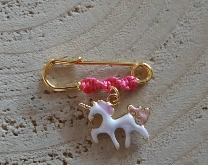 Pink unicorn mini baby girl brooch