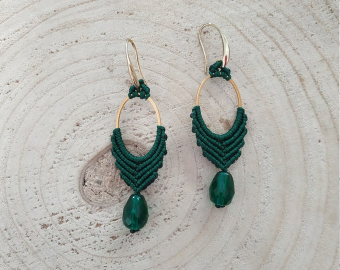 Forest marquise braided earrings